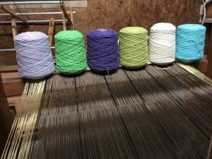 dyed wool yarn for weaving