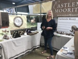 wool stall and Julia