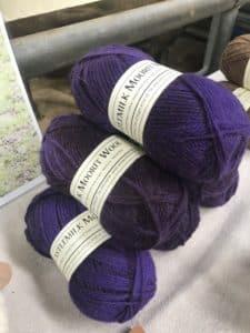 balls of purple wool