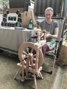 Heather spinning wool